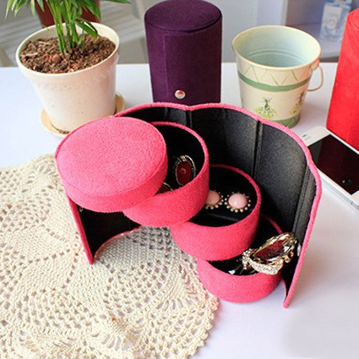 Excellent Quality New Jewelry Box Mini Jewelry Display Casket for Jewelry Travel Case Ring Earrings Necklace Storage for Gift