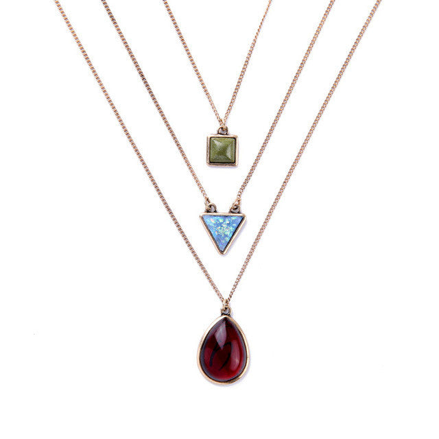 Exclusive Three Layer Necklace Egypt Jewelry
