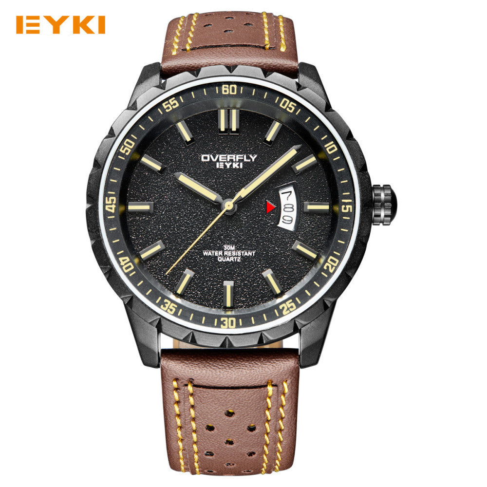 Eyki Man Watches Brand Luxury Colorful Youth Sport Watches For Men Spark Pattern Big Dial Calendar Luminous Men's Watches