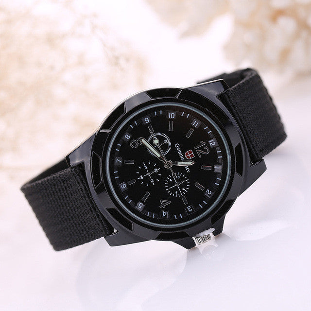 Famous Brand Men Watch Army Soldier Military Canvas Strap Fabric Analog Quartz Wrist Watches Outdoor Sport Wristwatches