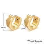Fashion 18K Gold Plated Stud Earrings Punk Rock Stainless Steel Earrings For Women