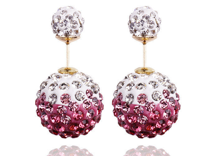 Fashion Charming Crystal Ball Earrings For Women Colorful beads earring jewelry for women