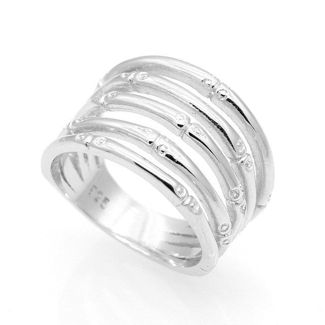 Fashion Female Fine Jewelry Wedding Ring For Women Anti-Tarnish Rhodium Plated On 925 Sterling Silver Jewelry New High Quality
