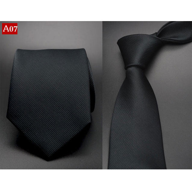 Fashion Hand Tie 8cm Formal Suit Business Wear Necktie Meeting Interview Office Wedding Men's Groom Black Red Striped