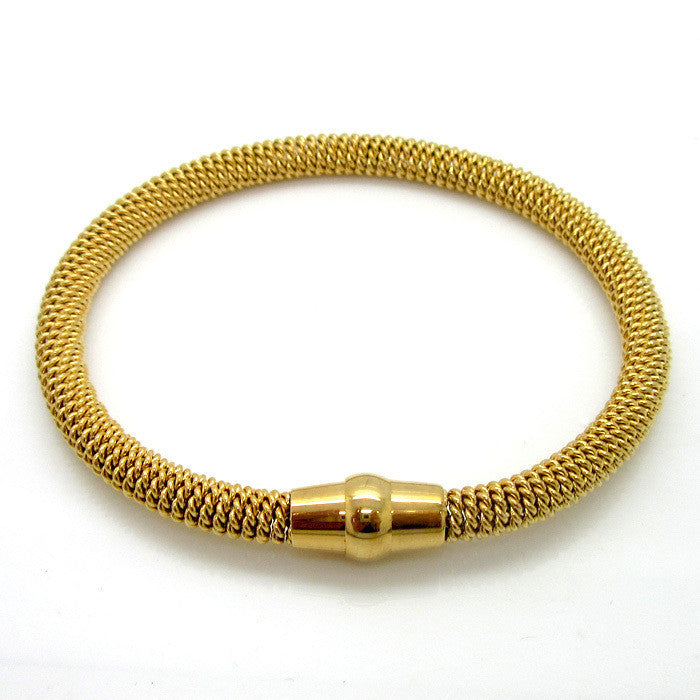 Fashion Hot Sale Jewelry Charm Bracelets & Bangles 18K Gold Stainless Steel Twisted Chain Bracelet For Women