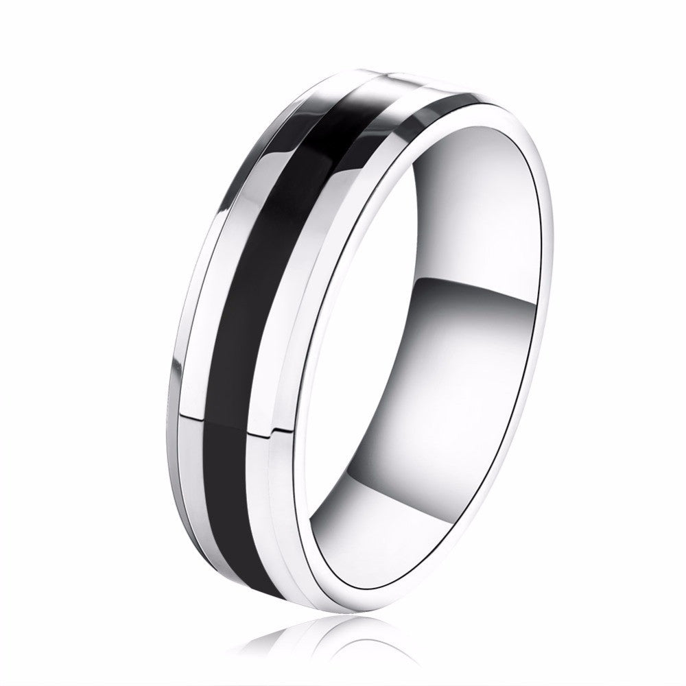 Fashion Jewelry 316L Stainless Steel Ring Couple Style Wedding Engagement Ring Jewelry