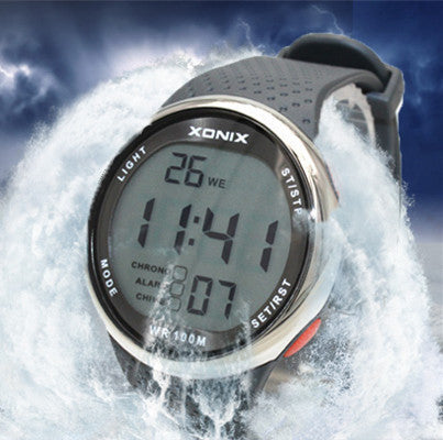 Fashion Men Sports Watches Waterproof 100 Meters Outdoor Fun Digital Watch Swimming Diving Wristwatch Reloj Hombre Montre Homme