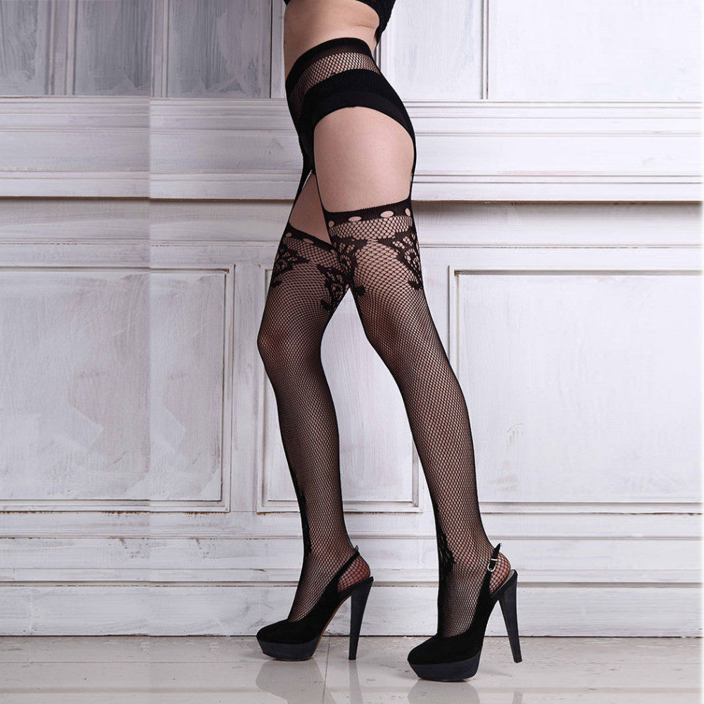 fashion sexy women hot sheer tight slim net lace stock | buycoolprice