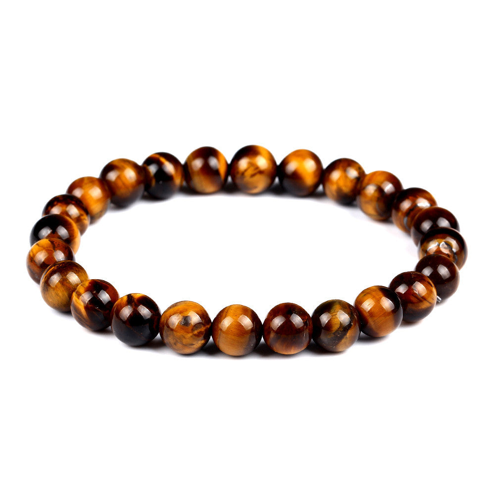 Fashion Tiger Eye Love Buddha Bracelet Elastic Rope Chain Lava Stone Bracelets Women Men Fine Jewelry pulsera brazalete