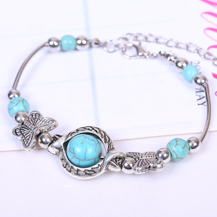 Fashion Turquoise Bracelet & bangles Tibetan Jewelry Bracelet for women Wholesale Vintage Inlayed Gift for Women