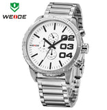 Fashion WEIDE Watches Men Quartz Sports Full Steel Watch Luxury Brand Watch 30 Meters Waterproof Diver Watch