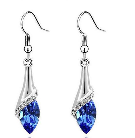Fashion Water Drop Plated Silver dangle long Earrings for Women Earrings for Women Jewellery