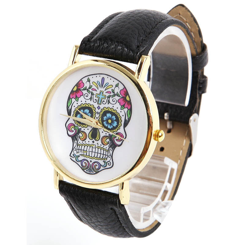 Fashion Design Women Dress watches Quartz Watch fashion SKULL Watch Ladies Sport Watches
