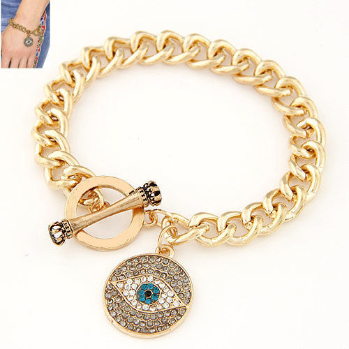 fashion Gold Bracelets for Women Men Jewelry Vintage Evil Eye Bracelets & Bangles Charm Brazaletes Pulseras Mujer Bijoux