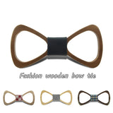 Fashion Handmade Wood Bow ties Bowtie Butterfly Gravata Ties For Men Hollow out Geometric Wooden bow tie