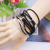 Fashion Handmand Silver Tone infinity Charm MIX Colors Bracelet Suede Leather Bracelet Best Gift