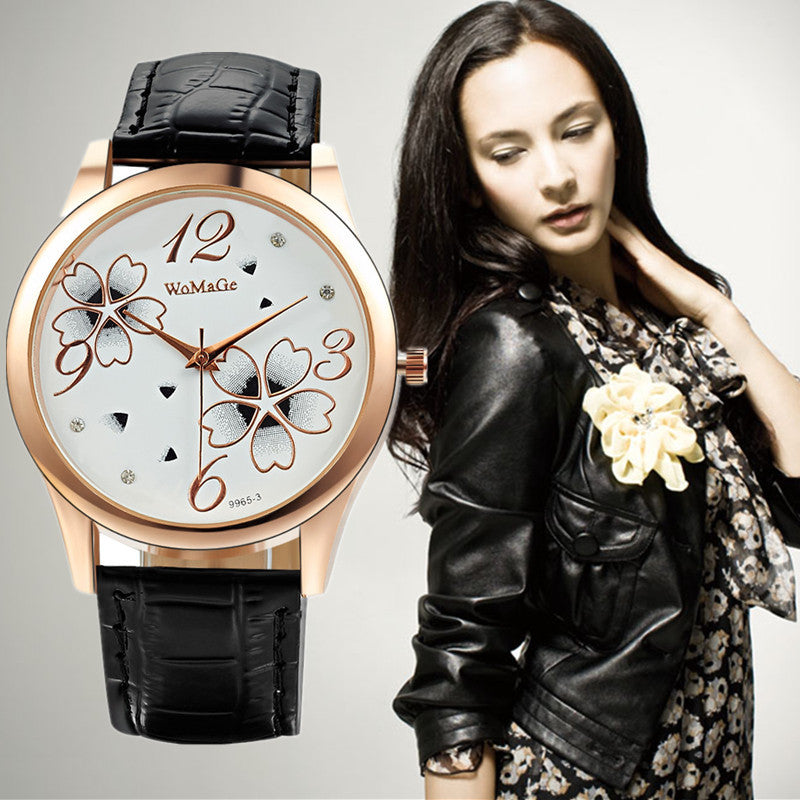 Fashion Luxury Crystal Watch Ladies Elegant Flowers Quartz Watch Women Watches Hour Gift