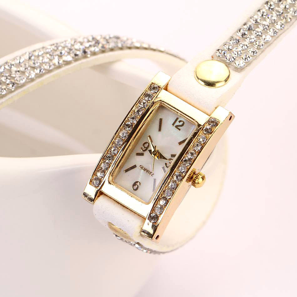 Fashion New Luxury Leather Casual Gold Wristwatch Watch Women Dress Watches Wrist Watches Quartz