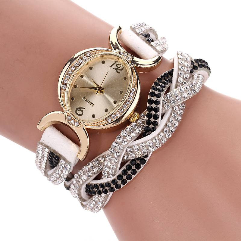 Fashion New Arrive Luxury Rhinestone Bracelet Women Watch Wristwatch Watch Women Watches Relogio Rhinestone Watch