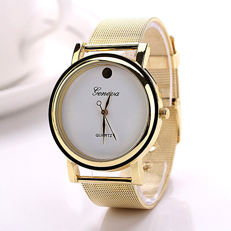 Fashion New Casual Fashion Geneva Business Stainless Steel Waterproof Wristwatch Dress Watches Geneva Watches Watch