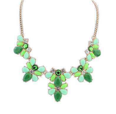 Fashion New Gold Plated Elegant Flower Crystal Choker Necklace Women Statement Necklaces & Pendants Gift