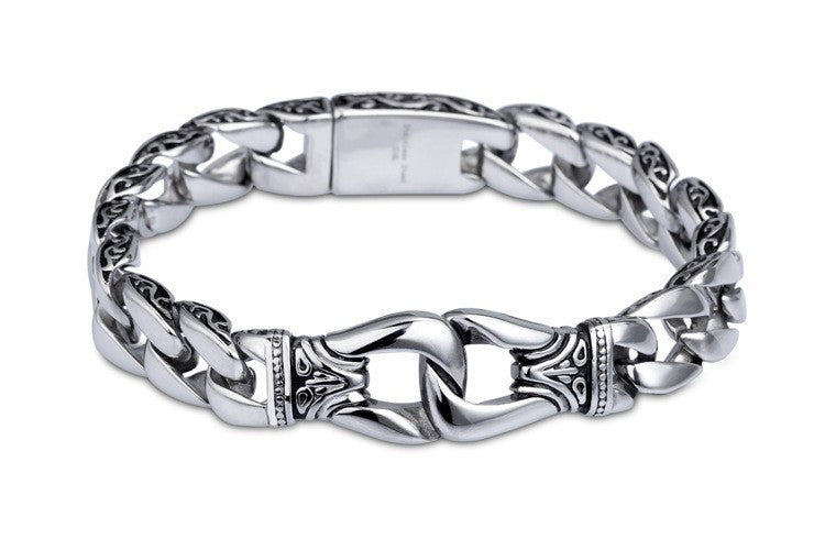 Fashion New Stainless Steel Charm Bracelet Men Vintage Friendship Totem Mens Bracelets Cool Brand Male Jewelry Wristband