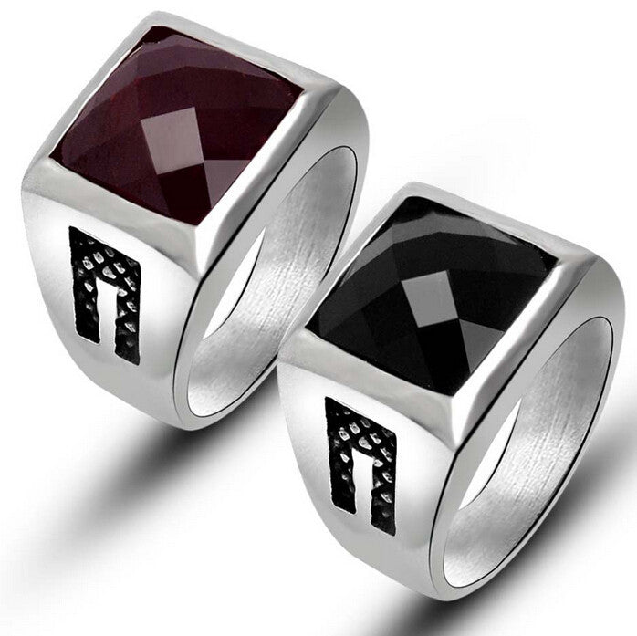 tri york new with white rings red inlay ring band gold wedding styles