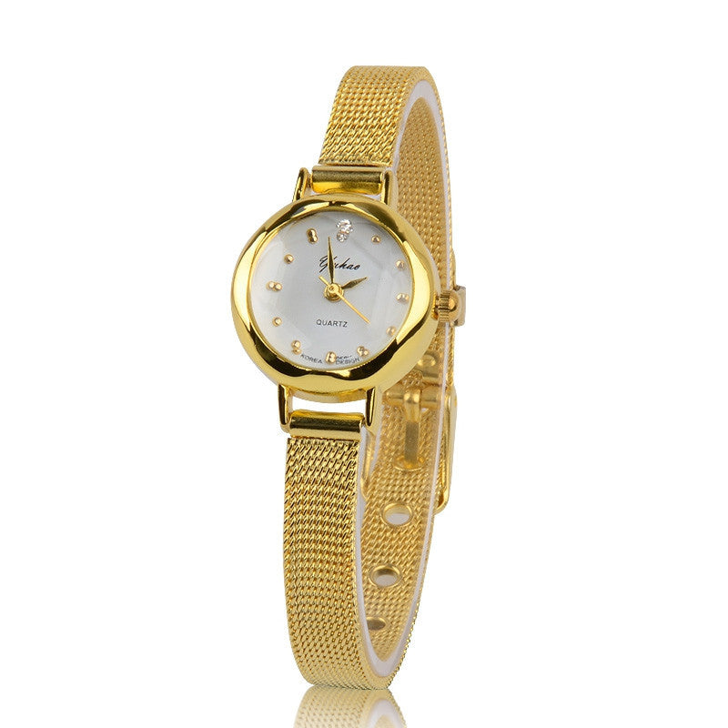 Fashion Women Dress Golden Watches Brand Watch Bracelet rhinestone watches quartz Women Wristwatches