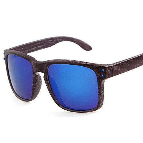 Fashion Wood Sunglasses Men Brand New Designer Goggles Gafas de sol Sport Outdoor Plastic Sun Glasses