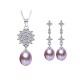 Fashion Jewelry Sets For Women High quality 925 sterling silver jewelry white/black/pink/purple