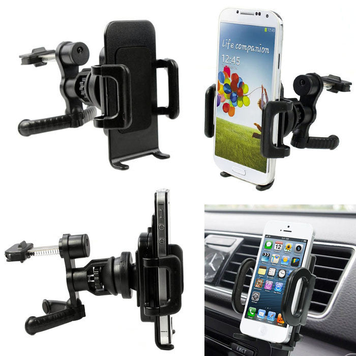 360 Car Air Vent Mount Cradle Holder Stand For Mobile Smart Cell Phone GPS