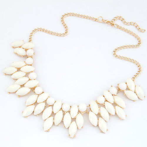 Fine Jewelry Maxi Collares Statement Necklaces & Pendants Imitated Gemstone Collier Femme for Women Accessories
