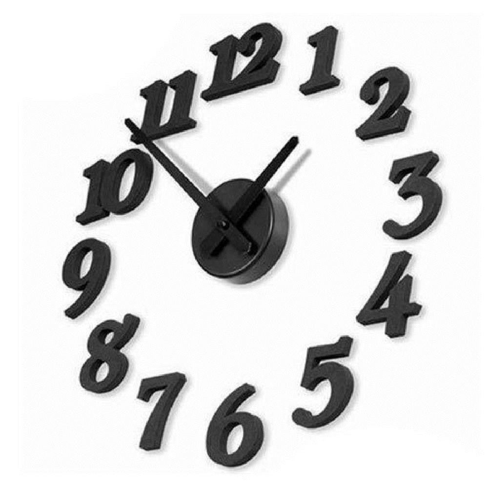 3D DIY Clock Adhesive Decal Modern Wall Digit Number Room Interior Decoration Clock