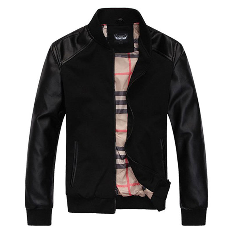 Hot Sale Fall Fashion Men's Faux Leather Jacket Men's Casual Wear Top quality