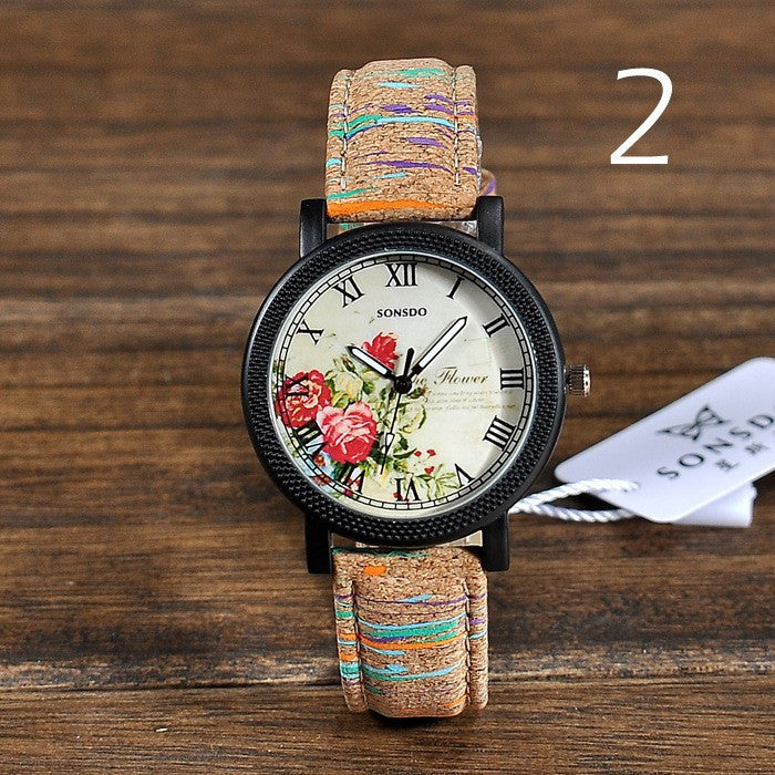 Geneva Vintage Retro Rivet Braided Genuine Leather Strap Women Wristwatches Bracelet Dress Watches Clock Thin Small Deer
