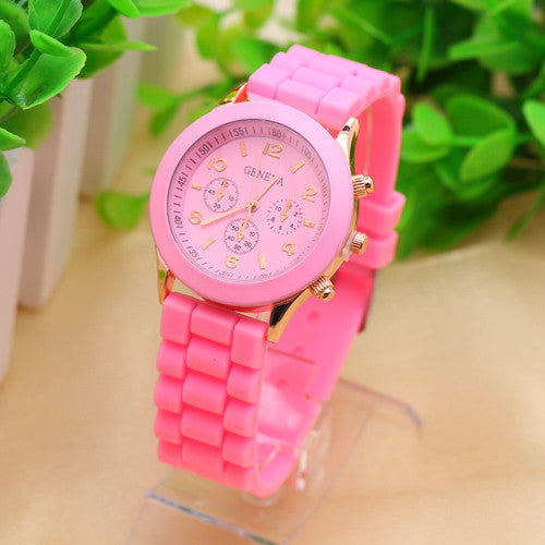 Geneva Casual Watch Women Dress Watch Quartz Military men Silicone watches Unisex Wristwatch Sports watch