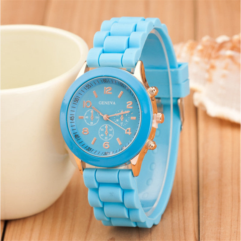 Geneva Casual Watch Women Dress Watch Quartz Military men Silicone watches Unisex Wristwatch Sports watch relogio feminino