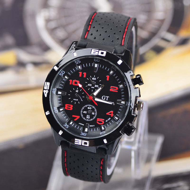 Casual Quartz watch men Military Watches GT sport Wristwatch Silicone Clock Fashion Hours