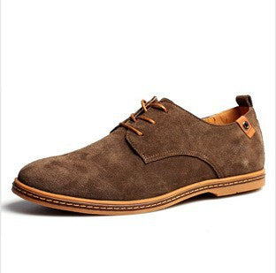 New Men/'s Oxfords Casual Shoes Suede European Leather Shoes Lace Up Flats Loafer