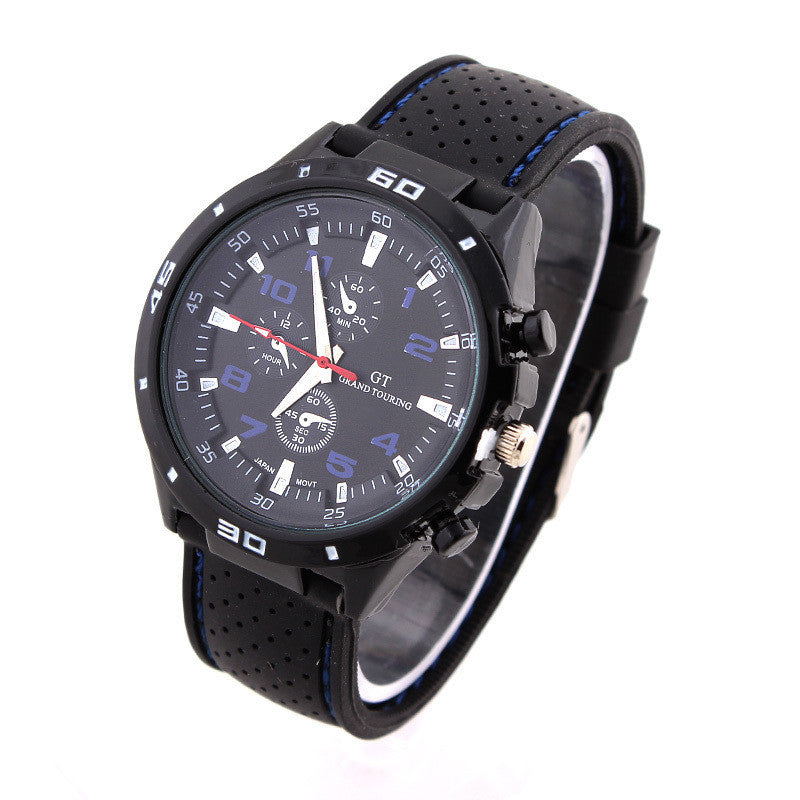 Rubber Strap Silicone Watch F1 GT Men's Sports watch women Casual watches Cycling Analog wristwatch