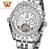 Original OUYAWEI Brand mechanical hand wind watch luxury brand FASHION for men Sport casual men Wristwatches