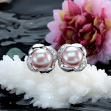 High quality 100% real freshwater pearl earrings for women 925 sterling silver stud earring gift for girlfriend