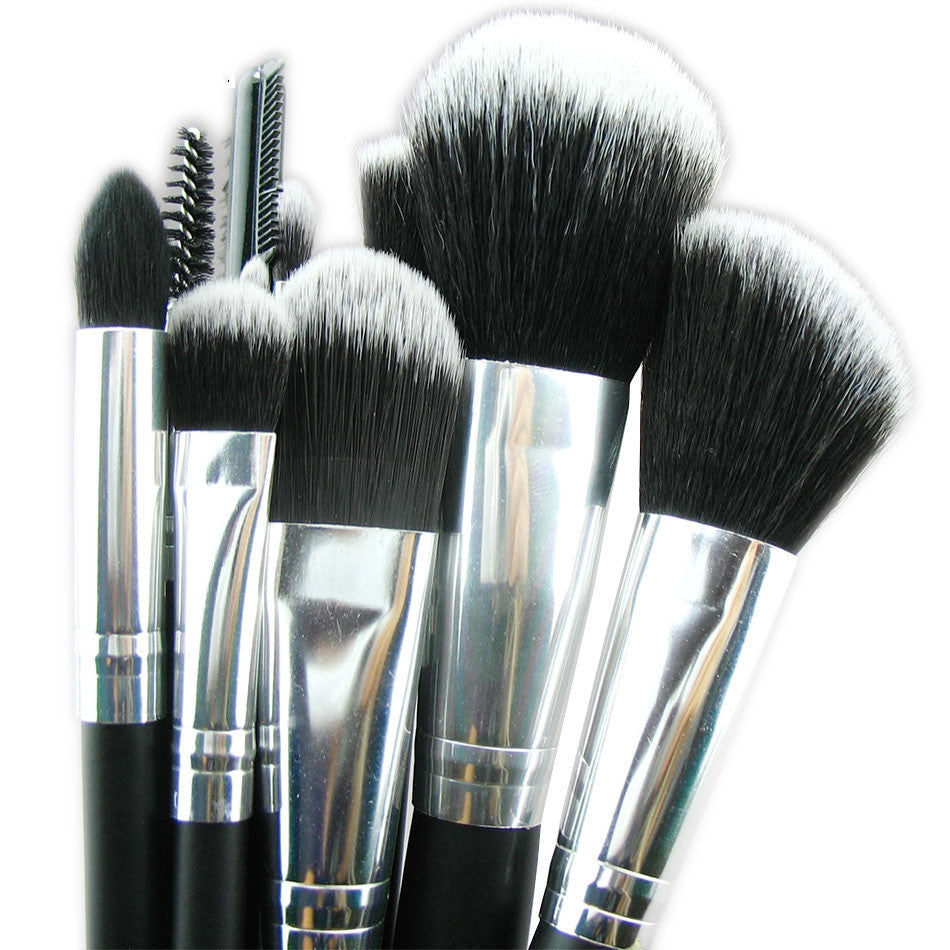 High Quality 10 pieces Super soft Taklon hair makeup brush set kit makeup tools make up brushes
