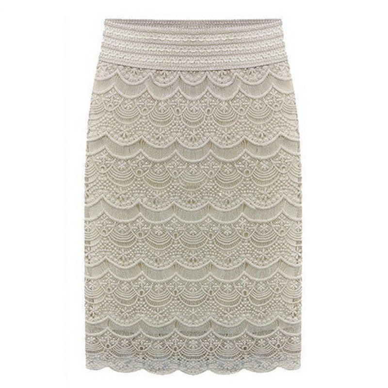 High Waist Bodycon Skirt Lace Womens Skirts Female Black Saia Curta Feminino Vintage Ladies pencil skirt in wedding New