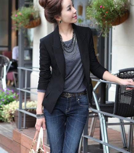 Hot Fashion Women's One Button Slim Casual Business Suit Jacket Coat Outwear
