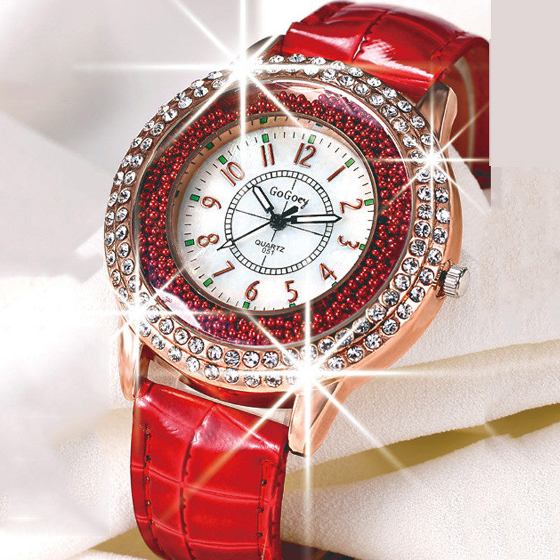 Hot Luxury Brand Diamond Orologio Donna Fashion Rhinestone Watch Women Casual Leather Clock Female Quartz Ladies Wristwatch