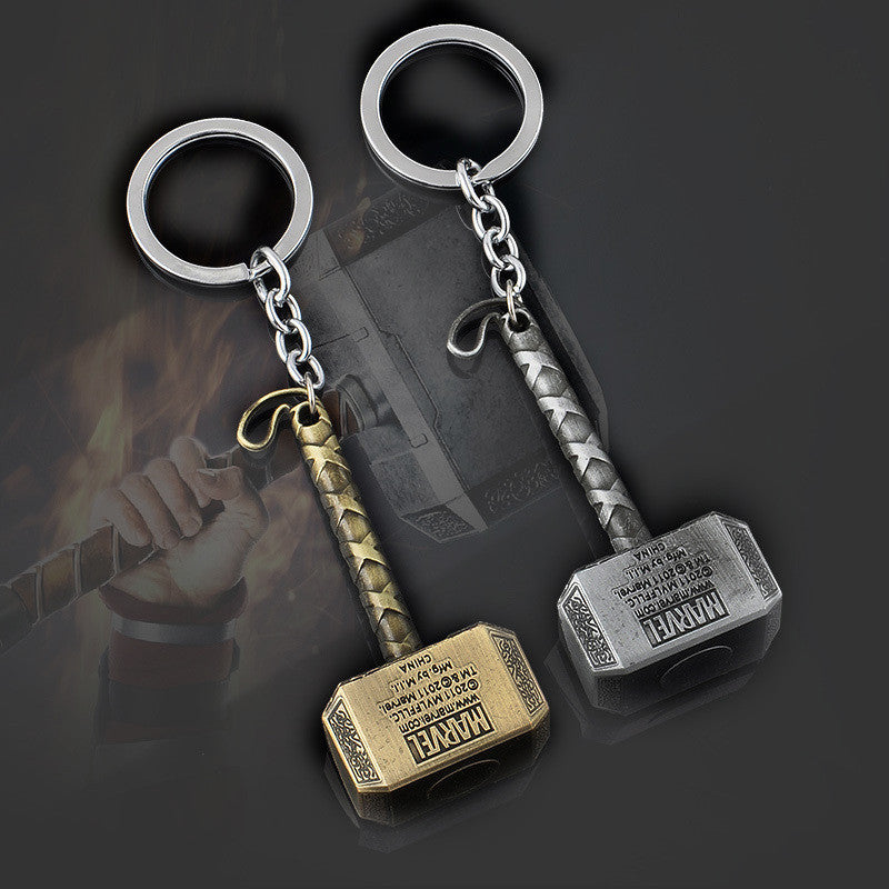 Hot Marvel Comics Super Hero Pendant Key Chain The Avengers Mjolnir Thor Hammer Keychain Keyring Chaveiro
