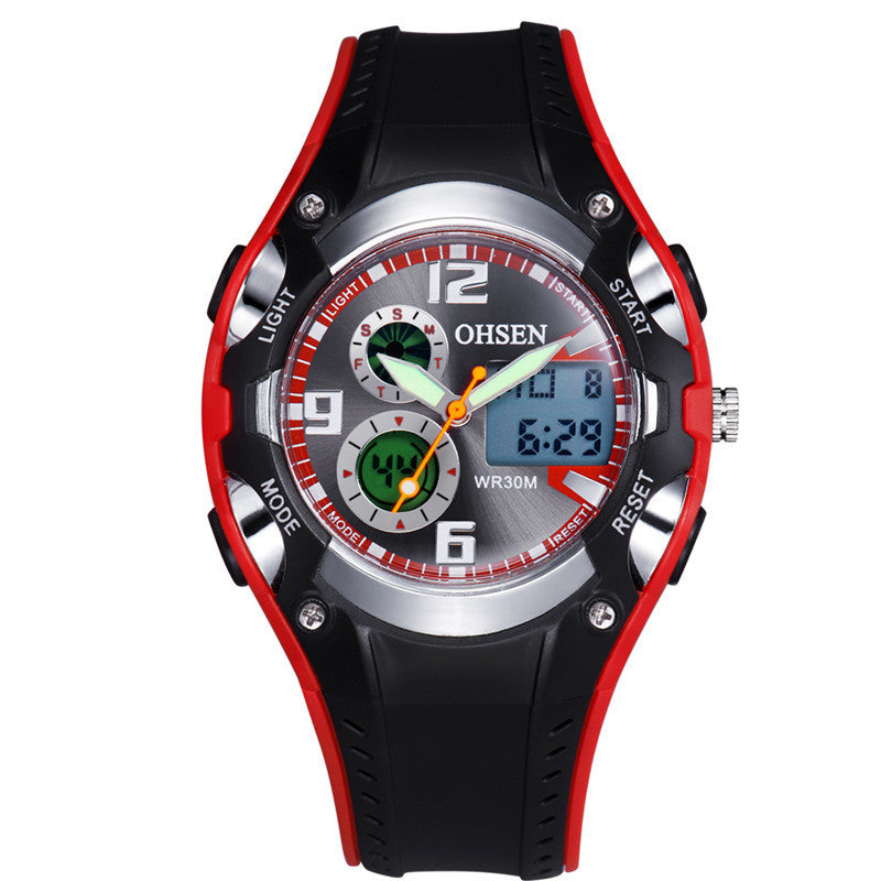 Hot OHSEN AD1309 Men Sports Watches Analog Digital Quartz 3ATM Waterproof Dive Fashion Military Watch Relogio Male Clock Gifts