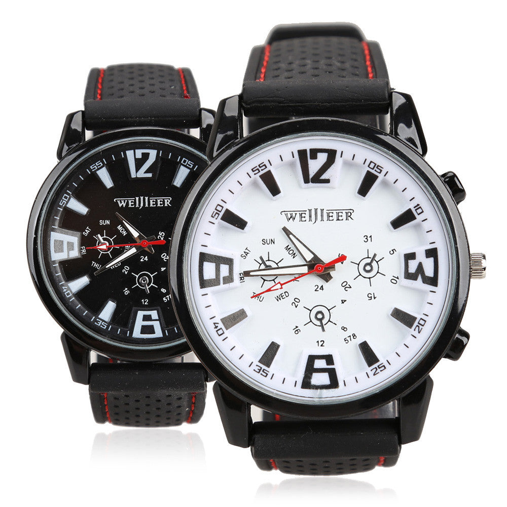 Hot Sale Mens Silicon Strap Sports Wristwatch Casual Men Watches Military Wrist Watch