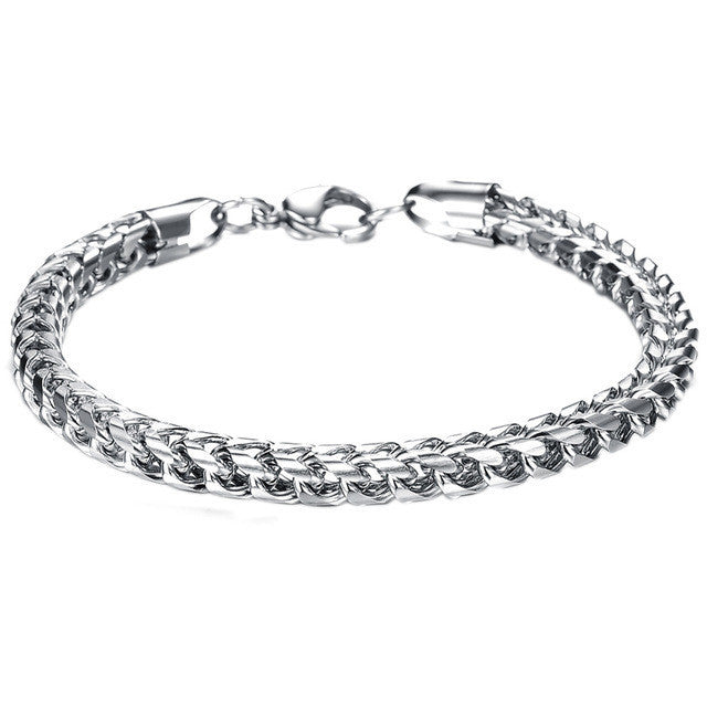 Hot Sale Summer Style Hand Chain Man Stainless Steel Snake Bracelet & Bangles Men Accessories Jewelry Gift for Best Friend
